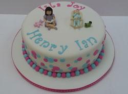 Joint Christening Cake