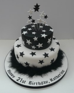 Stars and Feathers birthday cake