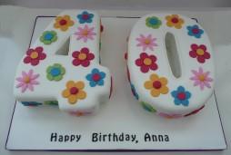 Groovy 40Th Birthday Cakes By Fun Cakes Funny Birthday Cards Online Ioscodamsfinfo