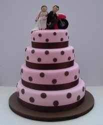 Polka dot wedding cake