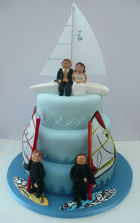 Watersports wedding cake